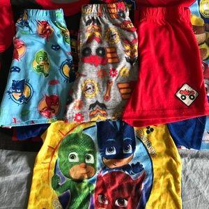 Three Character Pajama Short Sets